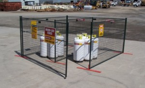 Cylinder Storage at Construction Sites