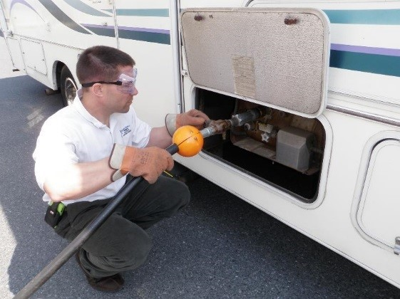Rv propane tank hook up
